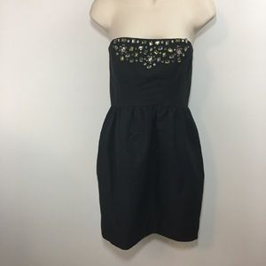 NWT Shoshanna black crystal embellished dress Sz 4